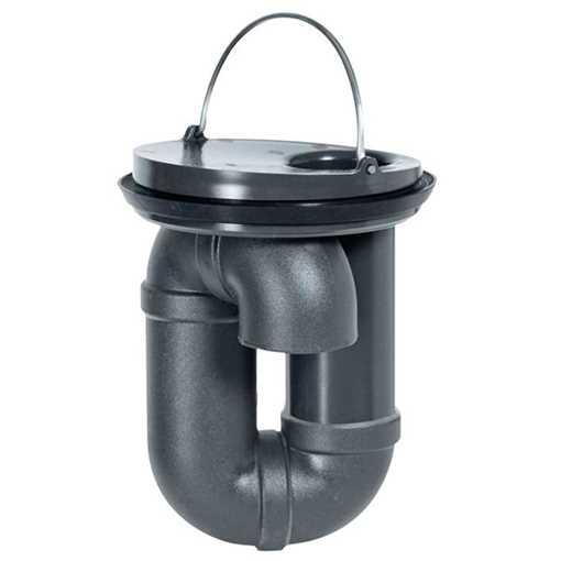 Selvrensende vandlås nr. 1 Universal til 100-110mm. rustfri eller plastrør. Selvrensende og VA godke