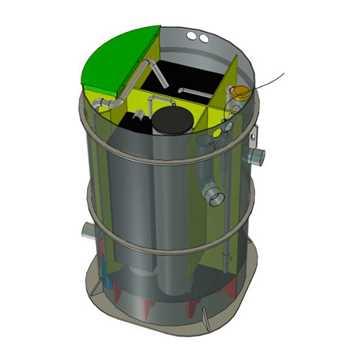 BioKube Venus 2200 er et typegodkendt biologisk minirenseanlæg til spildevand fra én husholdning. An
