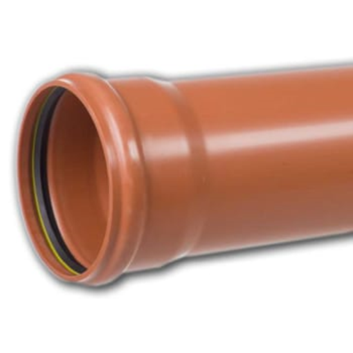 Kloakrør PP 160 x 3000 mm med muffe.PVC kloakrør pvc rør kloak plast kloakrør pvc plastrør pris
