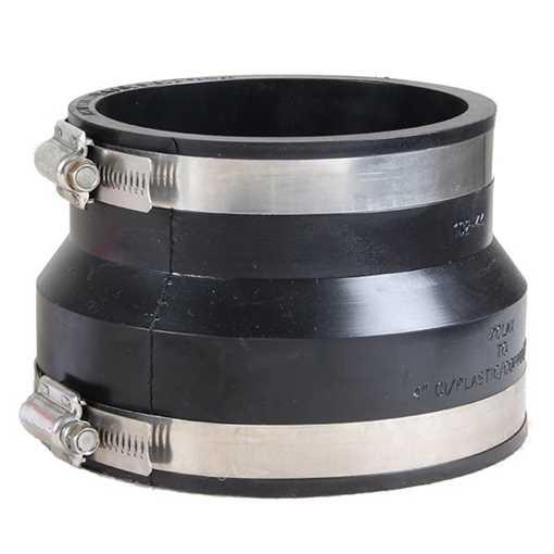 Overgangsmanchet 110mm plast til 100mm ler