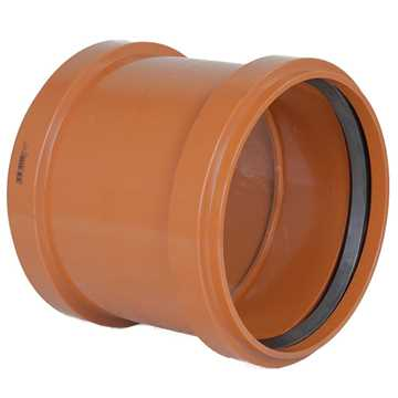 Kloakdobbeltmuffe PVC 250 mm PVC kloakdobbeltmuffe pvc kloaksamlemuffe samlemuffe kloakfittings