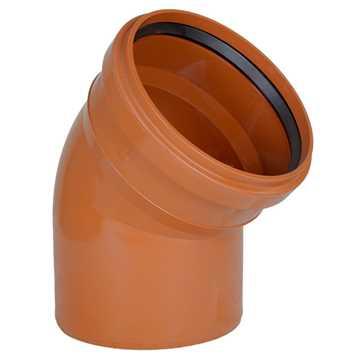 Kloakbøjning PVC 250 mm x 45° PVC kloakbøjning pvc kloakfittings kloakplast