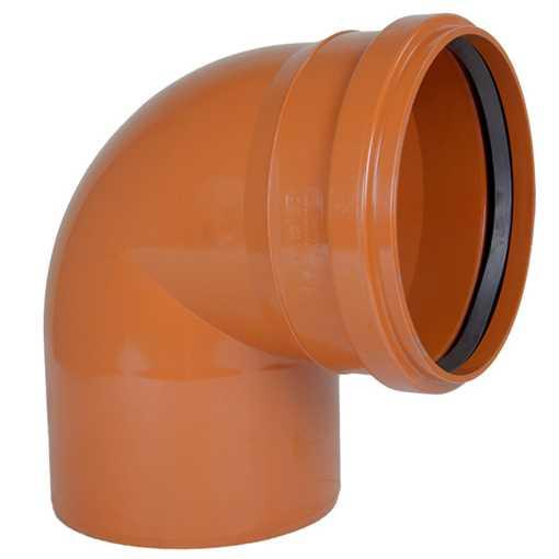 Kloakbøjning PVC 250 mm x 88° PVC kloakbøjning pvc kloakfittings kloakplast