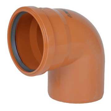Kloakbøjning PVC 110 mm x 87°  PVC klakbøjning pvc kloak vinkel kolakvinkel kloakfittings