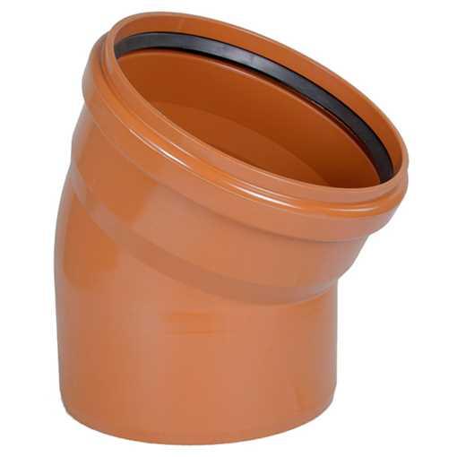 Kloakbøjning PVC 315 mm x 30° PVC kloakbøjning pvc kloakfittings kloakplast kloakvinkel kloak vinkel