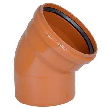 Kloakbøjning PVC 315 mm x 45° PVC kloakbøjning pvc kloakfittings kloakplast
