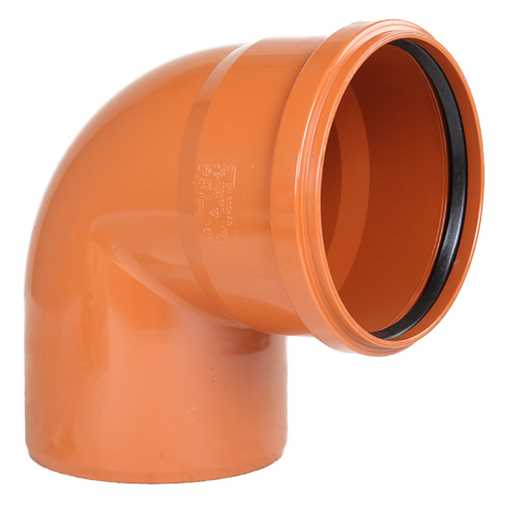 Kloakbøjning PVC 200 mm x 88° PVC kloakbøjning pvc kloakfittings kloakplast kloak vinkel kloakvinkel