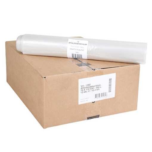 Billede af Affaldssække - Klare 100 ltr. 10 rll/kasse