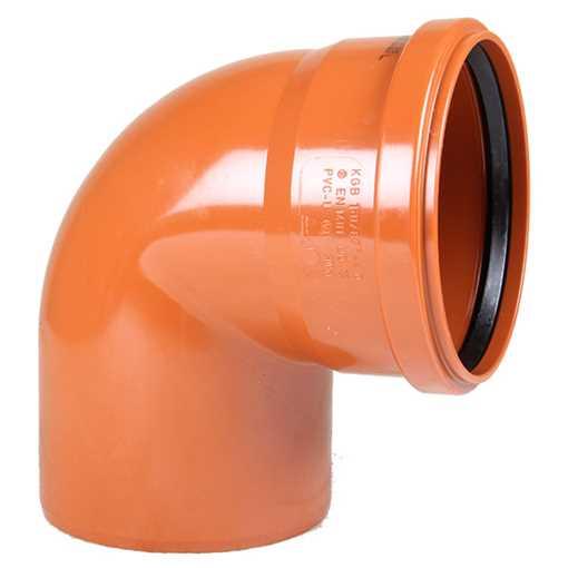 Kloakbøjning PVC 160 mm x 88° PVC kloakbøjning pvc kloak vinkel kloakvinkel