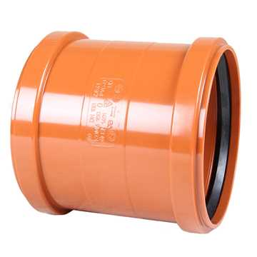 Kloakdobbeltmuffe PVC 160 mm PVC kloakdobbeltmuffe pvc samlemuffe kloakmuffe kloakfittings