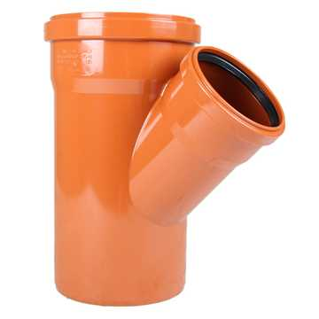 Kloakgrenrør PVC 160 x 110 mm x 45° PVC kloakgrenrør pvc kloak tee kloak fittings