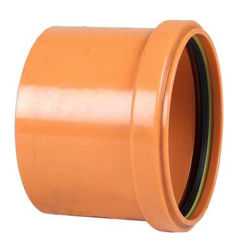 Billede af Enkeltmuffe PVC 110 mm