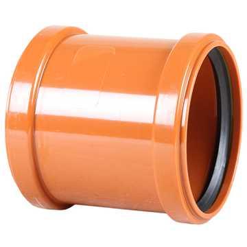 Kloakdobbeltmuffe PVC 110 mm PVC kloakdobbeltmuffe pvc kloakmuffe