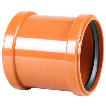 Billede af Kloakdobbeltmuffe PVC 110 mm (20 stk/ks)