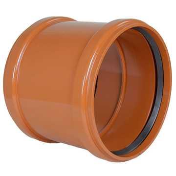 Kloakdobbeltmuffe PVC 200 mm PVC kloakdobbeltmuffe pvc samlemuffe kloakfittings