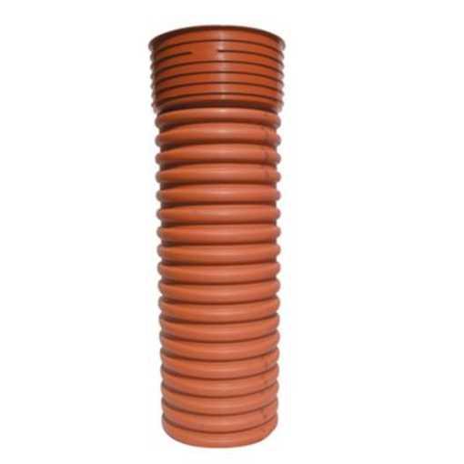 Uponor opføringsrør til rense og inspektionsbrønd 425 mm for 600 mm. Måler 900 mm med muffen.