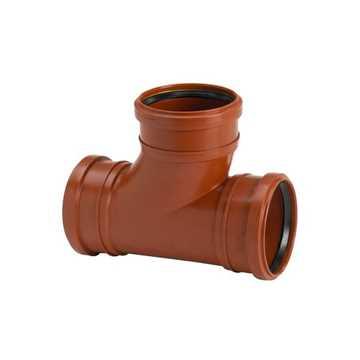 Kloakgrenrør i PP 110 x 110 mm x 88° kloak tee kloakgrenrør pp kloakfittings kloakplast PP