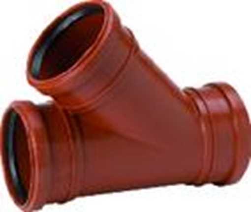 Kloakgrenrør i PP 110 x 110 mm x 45° grenrør pp kloak tee kloak billigt