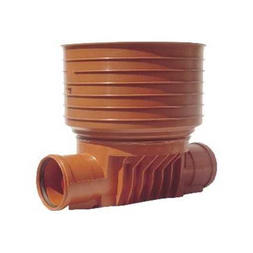 Uponor rense og inspektionsbrønd for 425 mm opføringsrør til 110 mm lige gennemløb - type 1 i PP. Ti