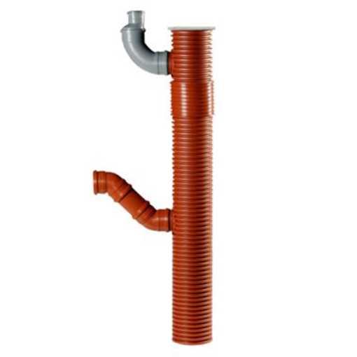 Uponor tagnedløbsbrønd 200 x 110 mm m/ vandlås, drejelig top