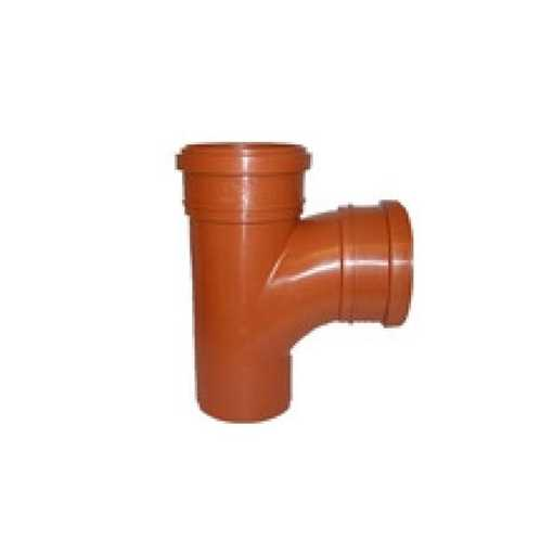 Uponor kloakgrenrør  i PP 110 x 110 mm x 88° grenrør kloak kloak tee billigt pp kloakfittings