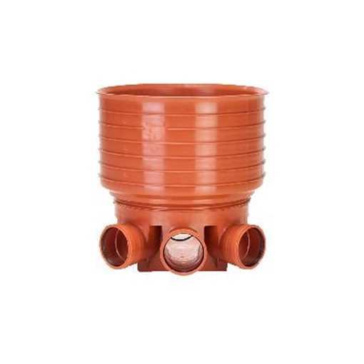 Uponor rense og inspektionsbrønd for 425 mm opføringsrør i 200 mm til Venstre/højre tilløb - type 2