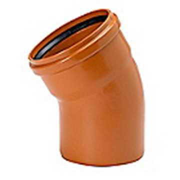 Kloakbøjning PP 200 mm x 30°  PP kloakbøjning pp kloakfittings kloakplast kloakvinkel
