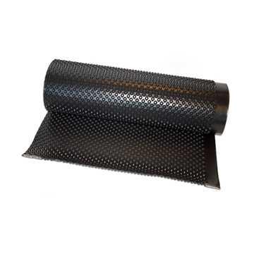 Størrelse: 1,0 x 20 meter. Materiale: HDPE. Membran tykkelse: 0,5 mm. Knasthøjde: 8 mm. Knastantal: