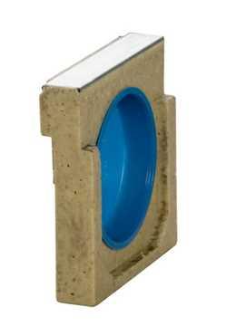B160 x H185 mm Universal endebund m/ 110 mm vandret udløb med fastsiddende gummiring og aftagelig p