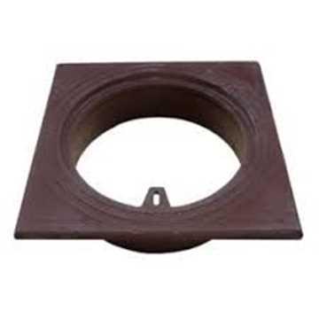 Firkantet rørbrøndkarm uden rist/dæksel. Passer til 160 mm rør. Belastningsklasse A15 = 1,5t. H=60 m