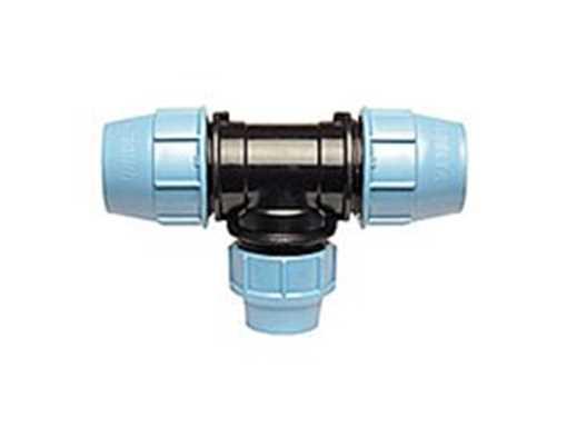 T-reduktion for PE-rør 75 x 63 x 75 mm Plasson