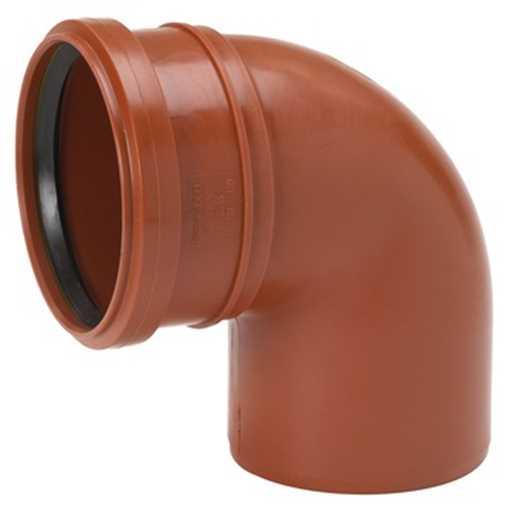 Kloakbøjning PP 160 mm x 88° kloakbøjning pp kloakfittings kloakplast kloakvinkel PP