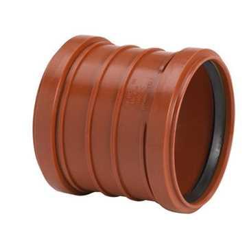Kloakdobbeltmuffe 160 mm PP, glat pp kloakmuffe dobbeltmuffe kloak kloakfittings  billigt pris
