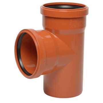 Kloakgrenrør PVC 160 x 110 mm x 87° PVC kloakgrenrør pvc kloak tee kloakfittings