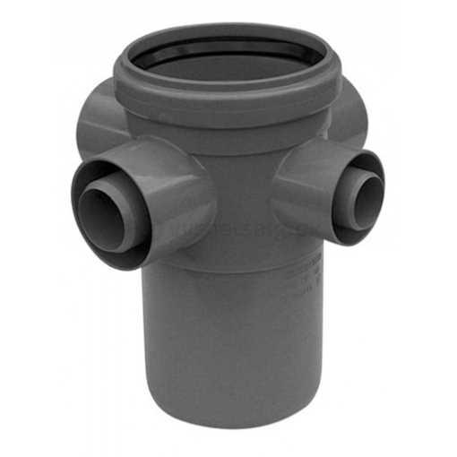 MaxiFlex underskål lodret 110 mm m/ 3x40mm og 1x32mm indløb