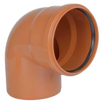 Kloakbøjning PVC 400mm x 87°  PVC kloakbøjning pvc kloakfittings kloakplast kloakvinkel