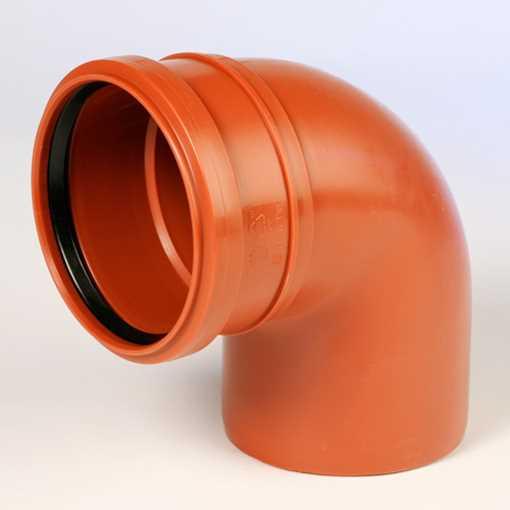 Kloakbøjning PP 200 mm x 88° kloakbøjning pp kloakfittings kloakplast kloakvinkel