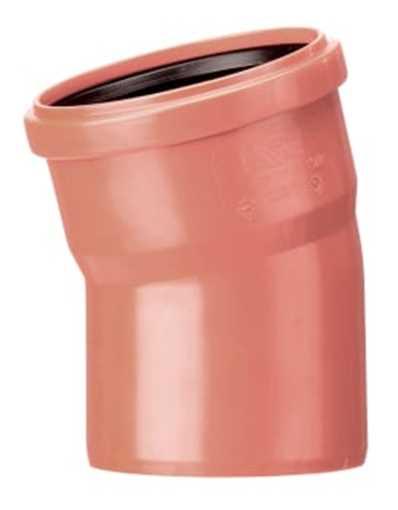 Kloakbøjning PP 200 mm x 45° kloakbøjning pp kloakfittings kloakplast kloakvinkel