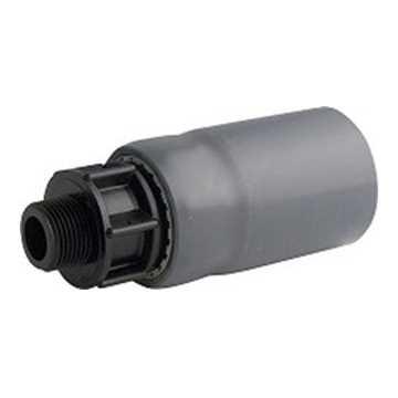 """Overgangsnippel 40 mm x 1"""" for 63 mm indføringsbøjning anvendes til at gå fra glatrør til gevindstyk"""