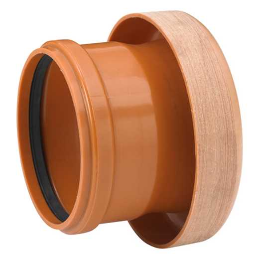 Kloakovergang PVC 110 mm lerrørsmuffe til PVC-spidsende overgang pvc