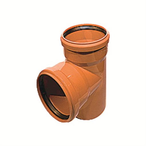 Kloakgrenrør PVC 110 x 110 mm x 87° PVC kloakgrenrør pvc kloak tee kloakfittings
