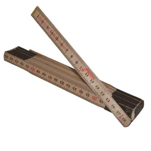 Traditionel tommestok til alsidig brug i større og mindre arbejdsopgaver i byggeriet. Med 12 led