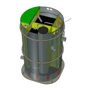 BioKube Venus 1850 er et typegodkendt biologisk minirenseanlæg til spildevand fra én husholdning. An