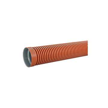 Ultra Double kloakrør i PP 200 x 3000 mm i SN8 med muffe. Ekskl. tætningsring. EN 13476-3 godkendt.