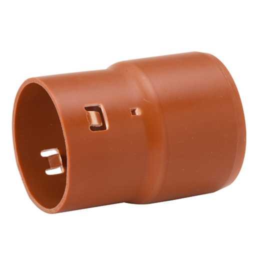 Drænovergang fra dræn med udvendig diameter på 80mm til 110mm plastrør.