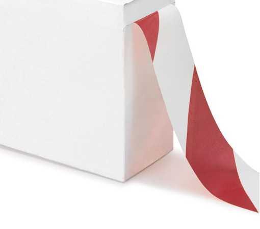 Afspærringsbånd rød/hvid