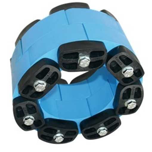 Led til kædetætning, pris pr. led. Kædetætningssæt til Ø110/146-155mm består af 7 kædeled.