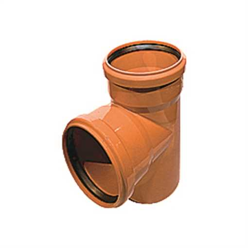 Kloakgrenrør PP 110 x 110mm x 87° SN4 grenrør pp kolak tee  kloakgrenrør  billigt kloak
