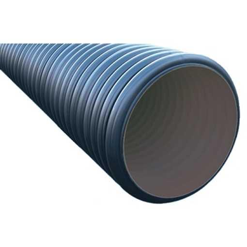 OT dobbeltvægget ID rør PP 680/600 x 6000 mm SN4 dobbeltvægget rør, letvægtsafløb, korrugeret rør