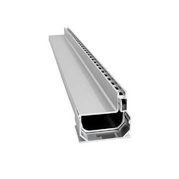 Afløbsrende i aluminium designet som en enhed med 10 x 25 mm drænhuller langs siden.Til max 40 mm b
